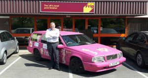 Monte Carlo or Bust Frip Finishing sponsors 'Pink Panther' car