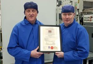 Leslie Gibson, Group Managing Director (left) with Alan Mortimer, Northern Regional Manager