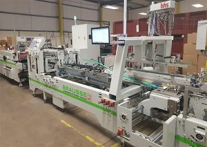 The Brausse Forza C6 carton folder-gluer at Frip Finishing in Redditch